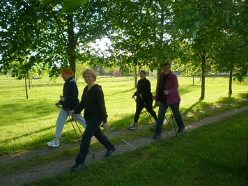 Nordic Walking in Aktion